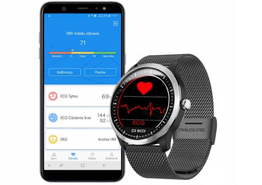 Часы с кардиограммой