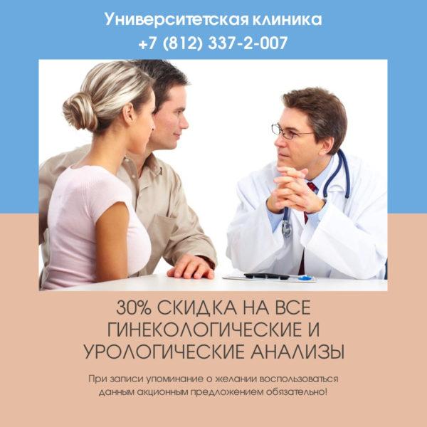 Акция анализы в Университетской клинике