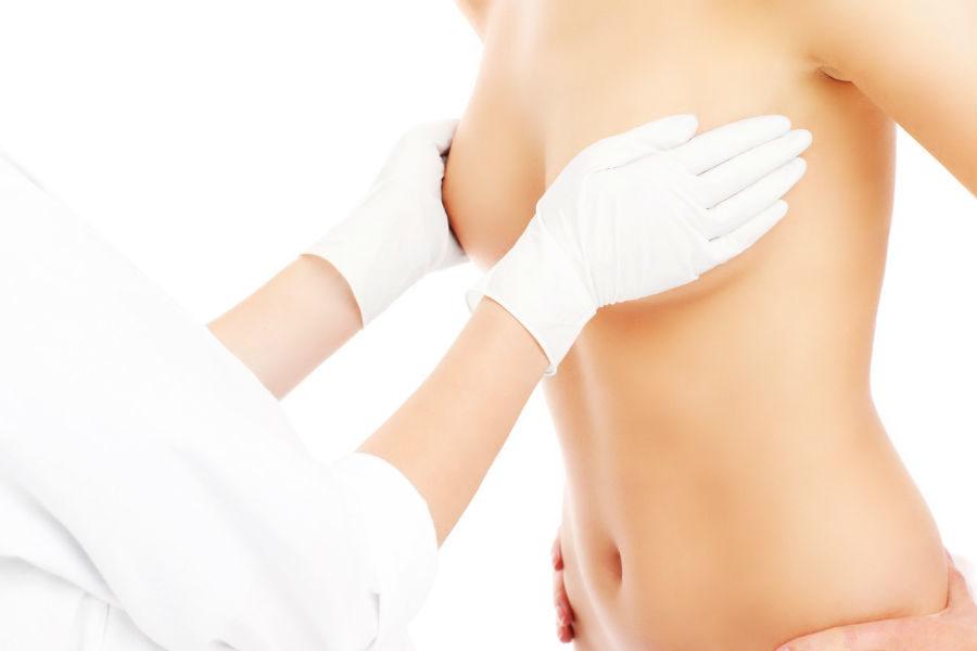 Физический осмотр груди